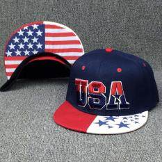 USA American Flag Snapback Cap Adjustable United States Baseball Cap Hat