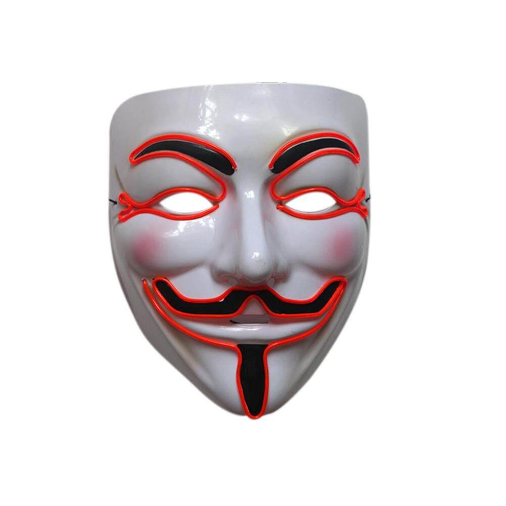 ... THB 300 VEECOME Men Light Up V for Vendetta Guy Fawkes LED Anonymous Rave Mask
