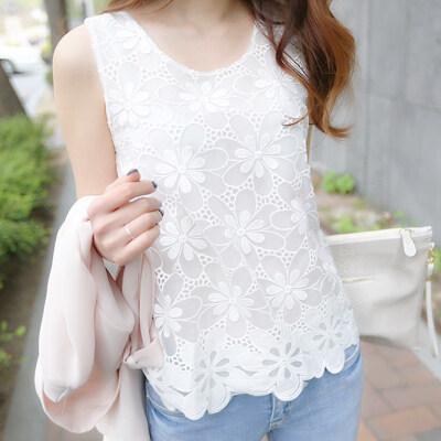 Versatile Female Slim Fit Slimming Top Base Strap Vest (122 White)