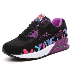 Victory New Women Sport Shoes Flat Heel Casual Mesh Surface Fashion Breathable Wear-Resisting Running Shoes(purple) By Dream Shopping Mall.