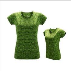 Victory Woman Fashion Quick Drying Fitness Suit Outdoor T-Shirt Motion Yoga Short Sleeve(green) By Dream Shopping Mall.