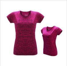 Victory Woman Fashion Quick Drying Fitness Suit Outdoor T-Shirt Motion Yoga Short Sleeve(rose) By Dream Shopping Mall.