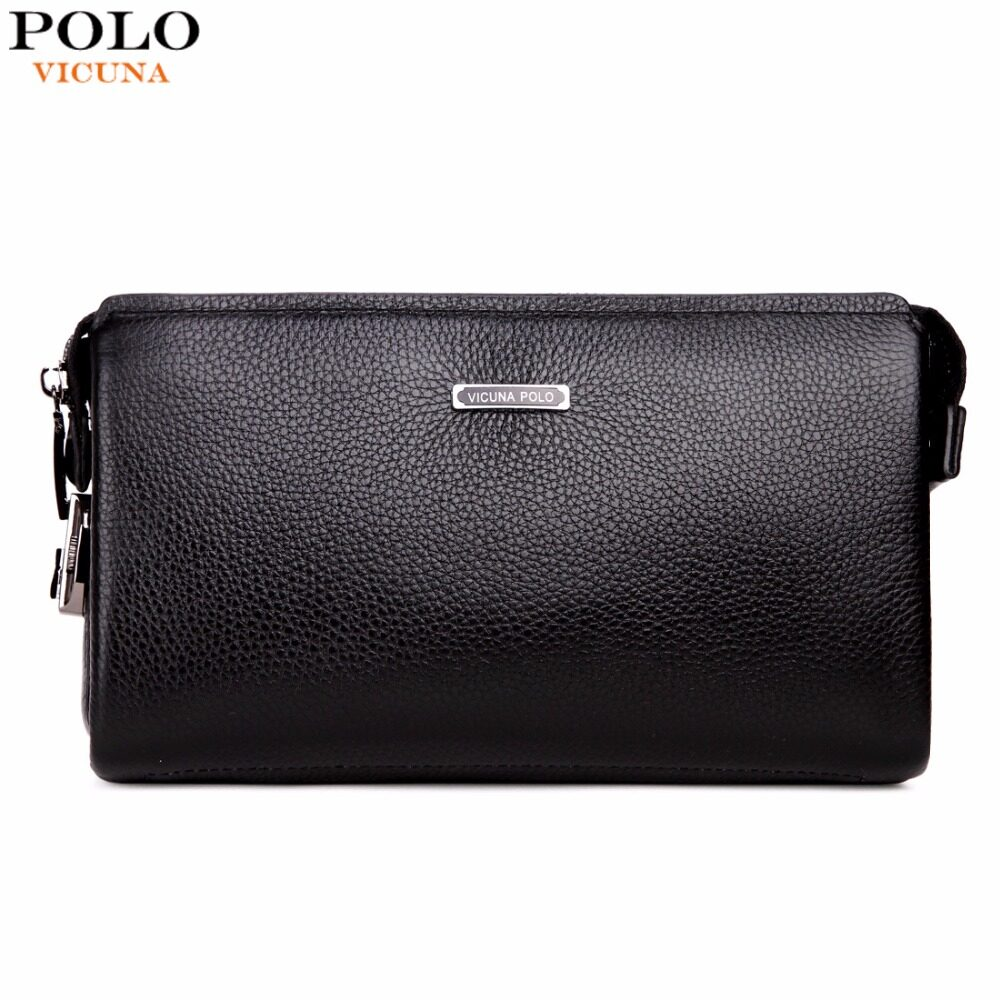Who Sells Vicuna Polo Genuine Leather Wallet With Coded Lock Cowhide Men Wallet Business Clutch Intl