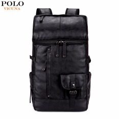 e19b906d51d1  Free a Clutch  VICUNA POLO High Capacity Large Mens Travel Backpack Black  Leather Man