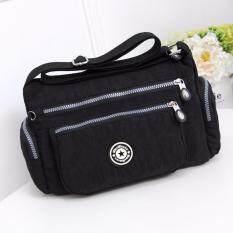 MYR 36. Women Casual Oxford Bag Multi-pocket Women Messenger Bag For Women Black Shoulder Bag Sling Bag Nylon Waterproof ...