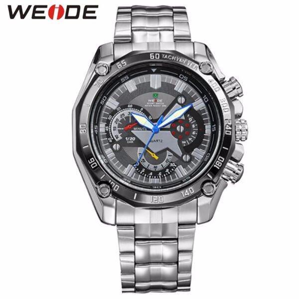 Weide Ef-550 Wh-1011 Figure  S.Steel Sport Watch Black Malaysia