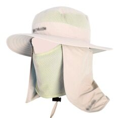 c78d4db44f667 Qimiao Wide Brim Bucket Hat Outdoor 360 degree Sun Protection Fishing Hat  With Removable Neck and