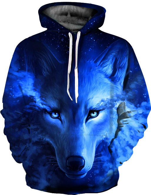 Wolf Printed Hoodies Men Women 3D Sweatshirt  Pullover Novelty Streetwear Male Hooded Jacket