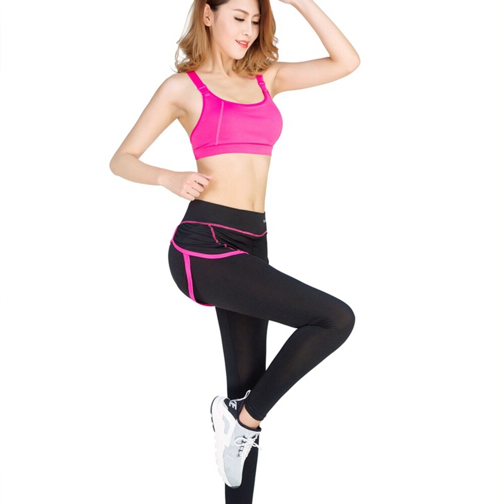 9ebd0d779b69e Woman Sport fitness clothes Zipper bra fake two piceces pants suit sport  running summer Gym sports