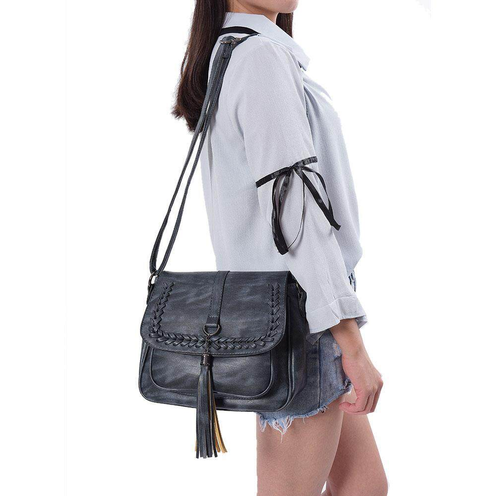 Compare Womdee Fashion Vintage Purse Tassel Shoulder Bag Leather Crossbody Messenger Bag Gifts For G*rl Women Intl Prices