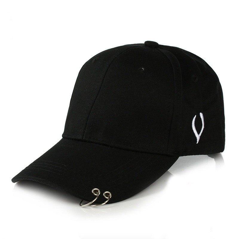 Wanita Boy Girlmetal Lingkaran Kekasih Topi Bisbol Hip Topi Pop Topi  Snapback Sunhat fc65626f36