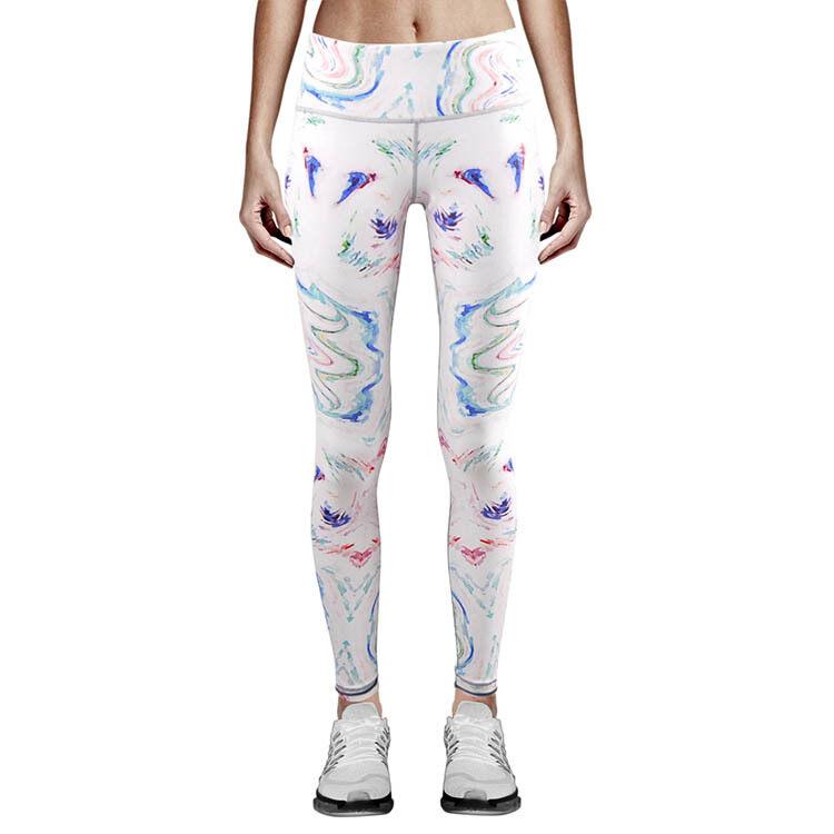 Wanita Kasual Bernapas Cetak Celana Yoga Cepat Kering Sport Celana Wanita Kebugaran Gimnasium Lari Celana Sport