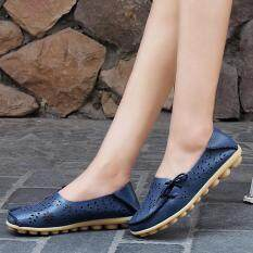 7f6798507 Women Casual Flat Breathable Soft Bottom Hollow Leisure Peas Boat Shoes  DB 38