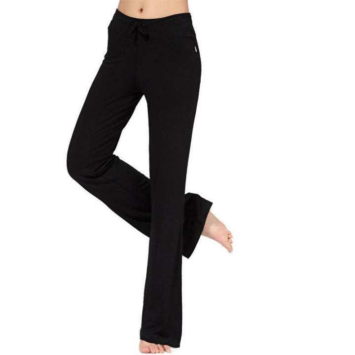 Women Casual Loose Yoga Pant Trousers(Black)
