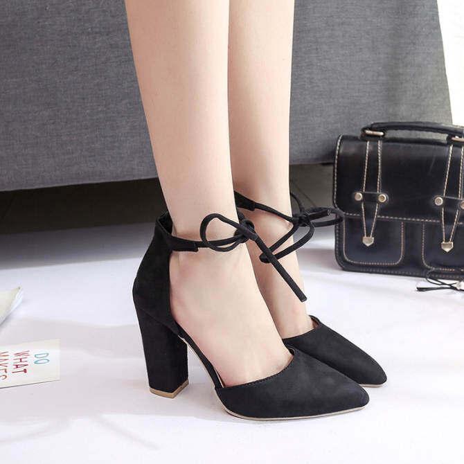 a9313737faf Women Fashion Buckle Ladies Shoes Wedges High Heels Platform Black Casual  Bowtie Pumps Tenis Feminino Sapato