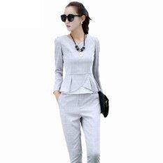 Mode Untuk Wanita Setelan Formal Elegan Kantor Wanita Karir Pakaian Kerja Santai 2 Pcs/set Termasuk Baju Atasan Dan Celana By Triple Best Technology Co., Ltd.