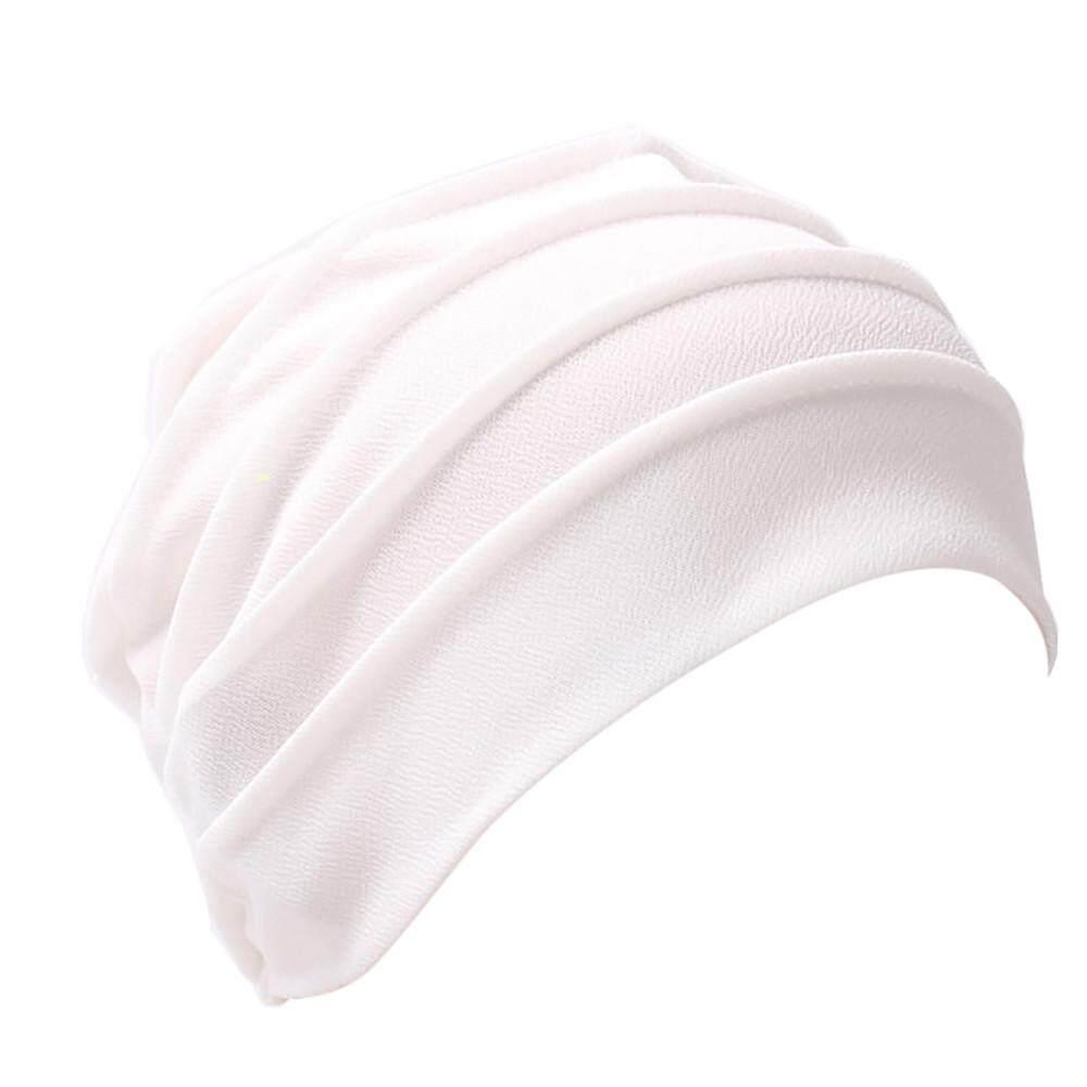 Wanita India Topi Muslim Ruffle Kanker Topi Chemo Beanie Syal Selendang  Kepala Turban Cap-Intl 85c61b81e0