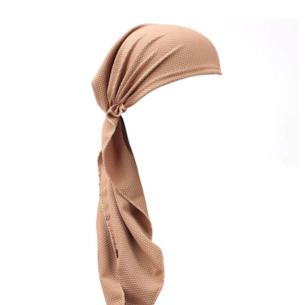 Women India Muslim Stretch Turban Hat Cotton Hair Loss Head Scarf Wrap Khaki - intl