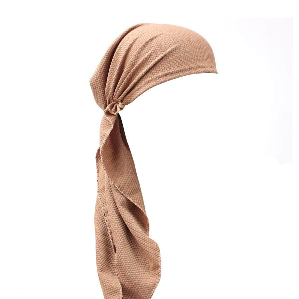 Women India Muslim Stretch Turban Hat Cotton Hair Loss Head Scarf Wrap  Khaki - intl 85ca631782