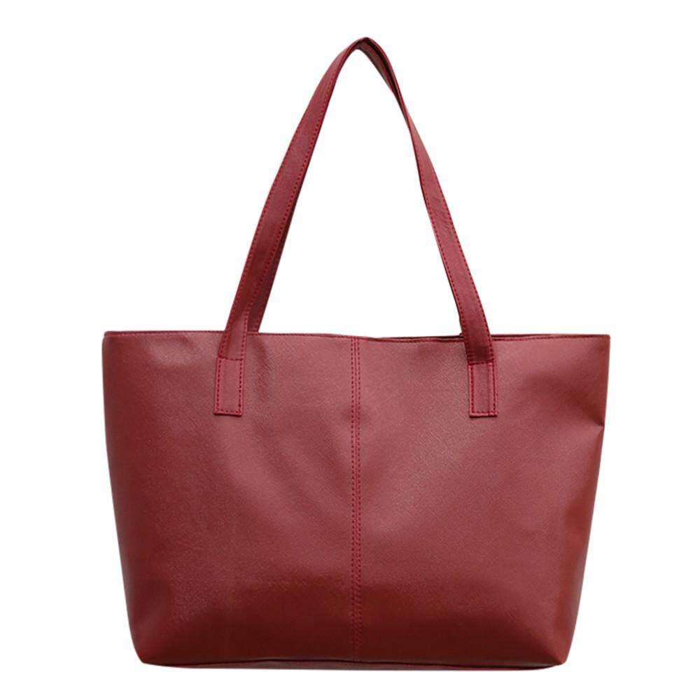 Women Ladies Leather Shoulder Bag Celebrity Tote Purse Travel Bag Large Red Stylish Dot Intl Price Comparison