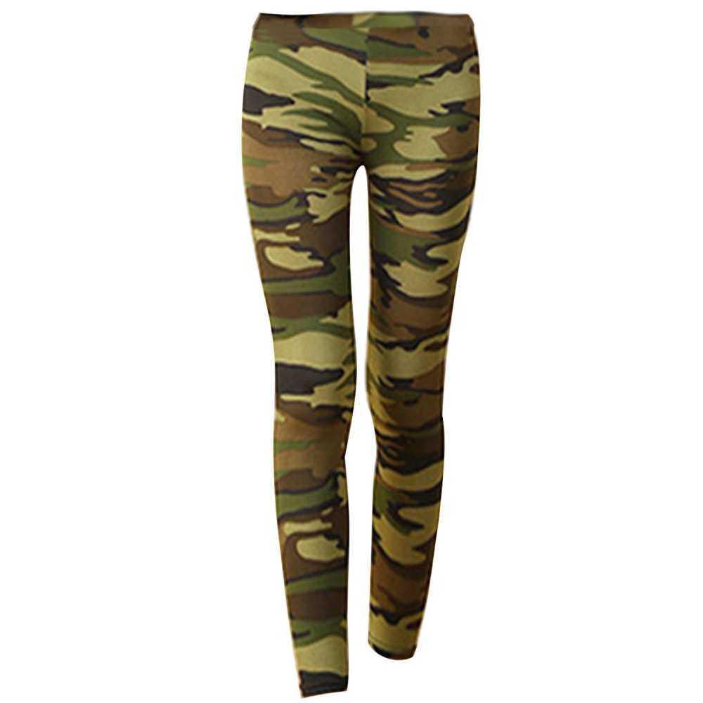 ผู้หญิง Lady Stretchy Camouflage พิมพ์กราฟิกที่มีสีสันแฟชั่นเลกกิ้งใส่วิ่ง Tights Basic กางเกงขายาวเข้ารูป Comfort Xl ขนาดกางเกงลำลองรัดรูป By Mjyktu8.