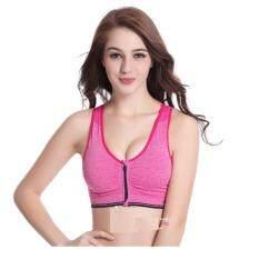 f4bebabfc136f ... BCD74US029E4EAGS 1 Women Or Girl Sport Zip Bra Yoga Bra Exercise  Running Zipper Bra Women Level 4 High ...