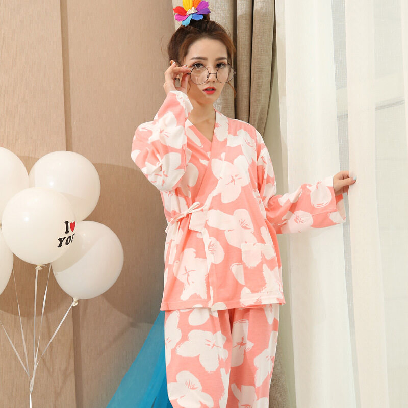 3e78a87df5  Free Shipping Women Pajamas Korean Winter 2 Piece Pajama Sets Women  Sleepwear Female Nightgown