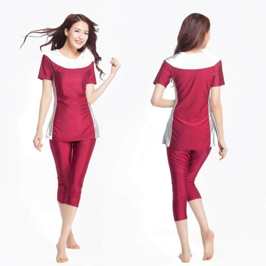 d37c89e5748 Women Plus Size Muslim Swimwear Beach Bathing Suit Muslimah Islamic  Swimsuit Swim Surf Wear Sport Clothing