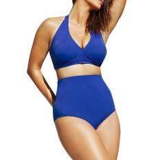 afa04a372f Women Push up Padded Bra Bandeau High Waist Bikini Swimwear Swimsuit Plus  Size