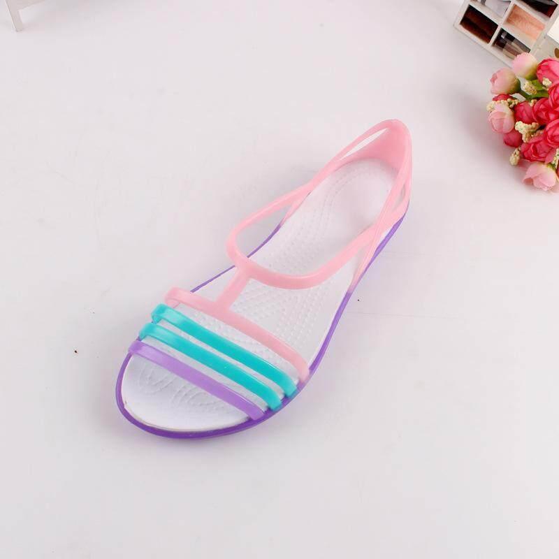 cfc68eb20 Women Sandals 2017 Summer New EVA Candy Color Peep Toe Stappy Beach  Valentine Rainbow Croc Jelly