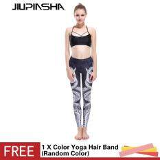 Women Slim Octopus 3D Printed Leggings Fitness Sports High Elastic Yoga Pants Push Up Hip Running Gym Capris Leggings – intl