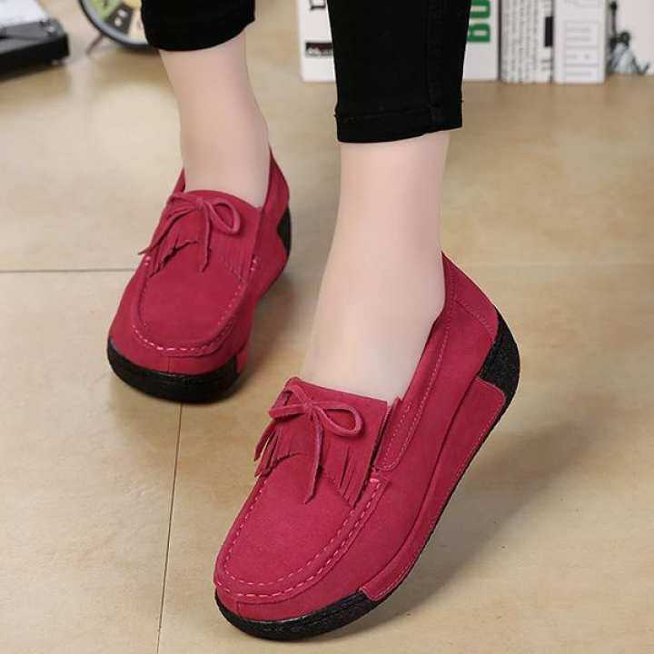 Men's/Women's Women Slip-On Suede Driving Driving Driving Moccasins Platform Loafers Comfort Walking Work Shoes   Modern And Elegant 6de0a8