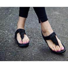 Woman Summer Thong Flip Flops Sandals Shoes Beach Casual Slippers Black By Jetcorn.