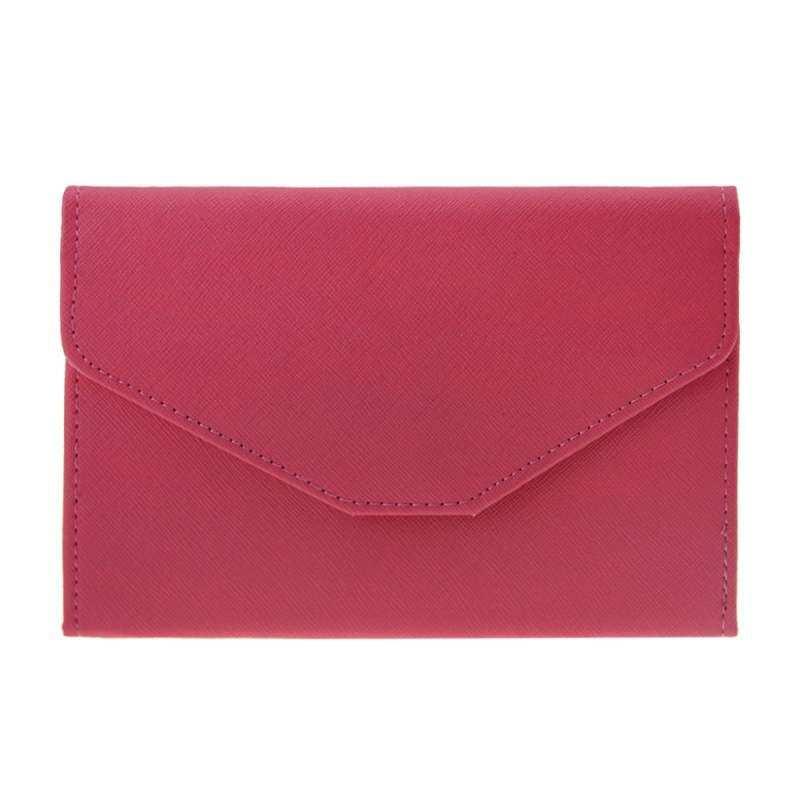 ... HHS86JUS Wanita Perjalanan Slim Lipat Tiga Kulit PU RFID Block Mawar Merah Anti Degaussing Pemegang Cover