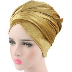 Women Velvet Turban Headband Wrap Hijab Extra Long Velvet Tube Head Wrap  Scarf 9dea46bce77