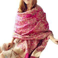 Women Winter Long Soft Warm Imitation Cashmere Jacquard Weave Scarf Wrap Large Shawl By Sawu.