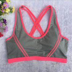 ad4f8b4286af3 Women Yoga Fitness Stretch Workout Tank Top Seamless Racerback Padded Sports  Bra