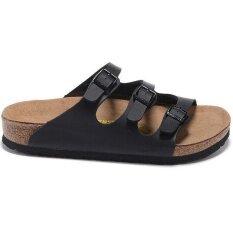 5c511dc2e32 Women s Authentic Birkenstock Florida Birko-Flor Flat Slippers Size 35-41  (Black)