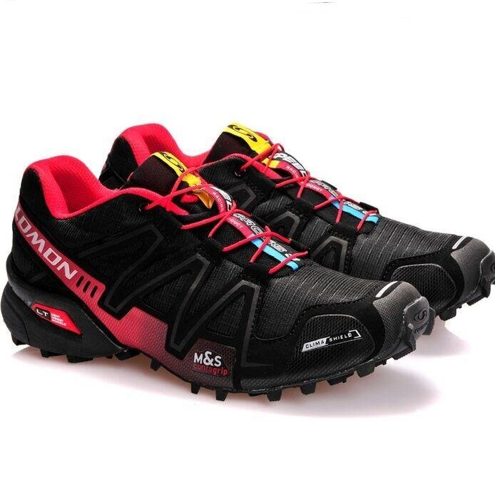 Women s Authentic Salomon Speed Cross 3 CS Shoes Size 36-41 (Black Red 696dc92f0d
