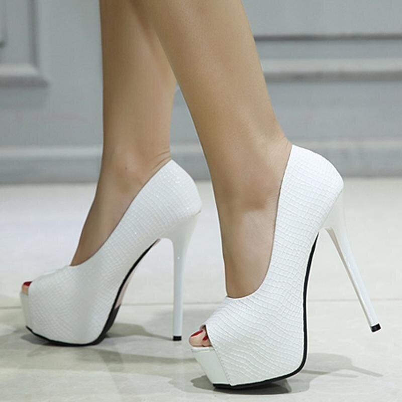 Womens Hollow Peep Toe Zip Slim Platform Stiletto High Heels Pumps Party Sandals
