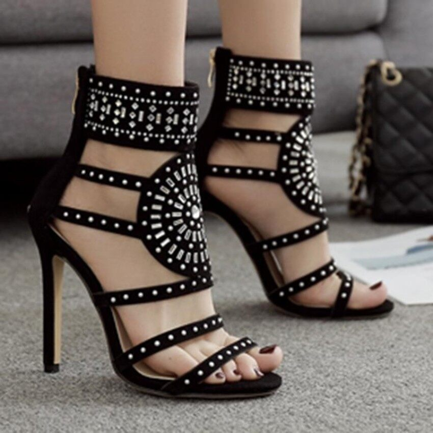 947e027ed49 Women s Stiletto High Heels Bohemian Party Sandals with Rivets - intl