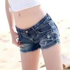 Womens Denim Shorts In Summer Han Edition Fashion Show Thin Washed Denim Shorts Worn Shorts By Popular Elements.