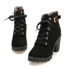 Womens Fashion High Heel Lace Up Ankle Boots Ladies Buckle Platform Shoes By Goldenfashionie.