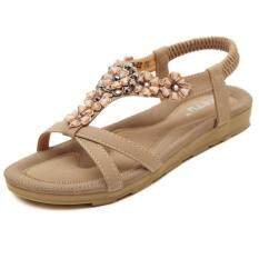 da04d18d2 Women's Flat Sandals Sweet Summer Shoes Beautiful Beaded Sandals Beach Shoes  Casual Shoes