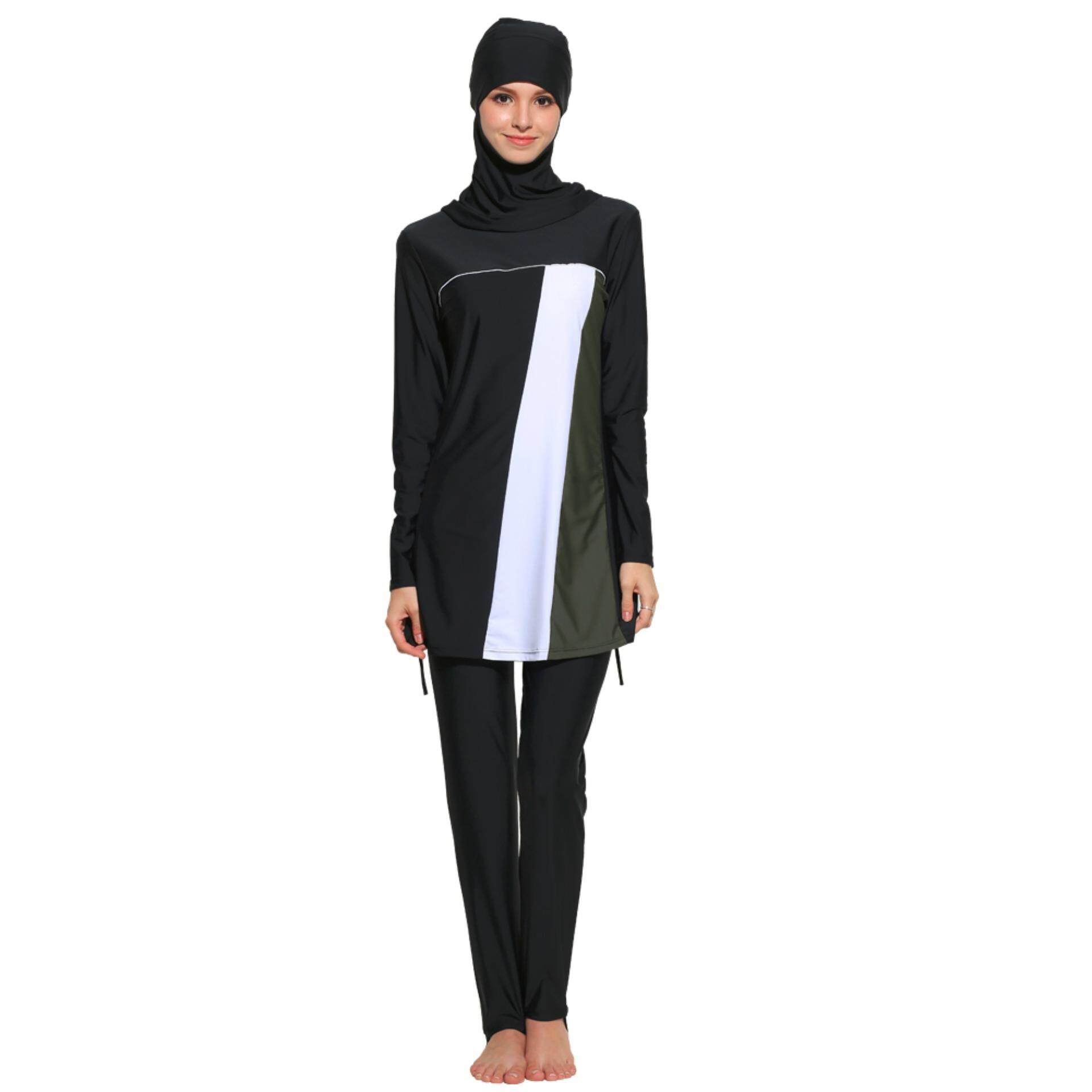a620a2133d499 Womens' UPF 50+ Full Cover Islamic Swimsuits Modest Muslim Swimwear Burkini