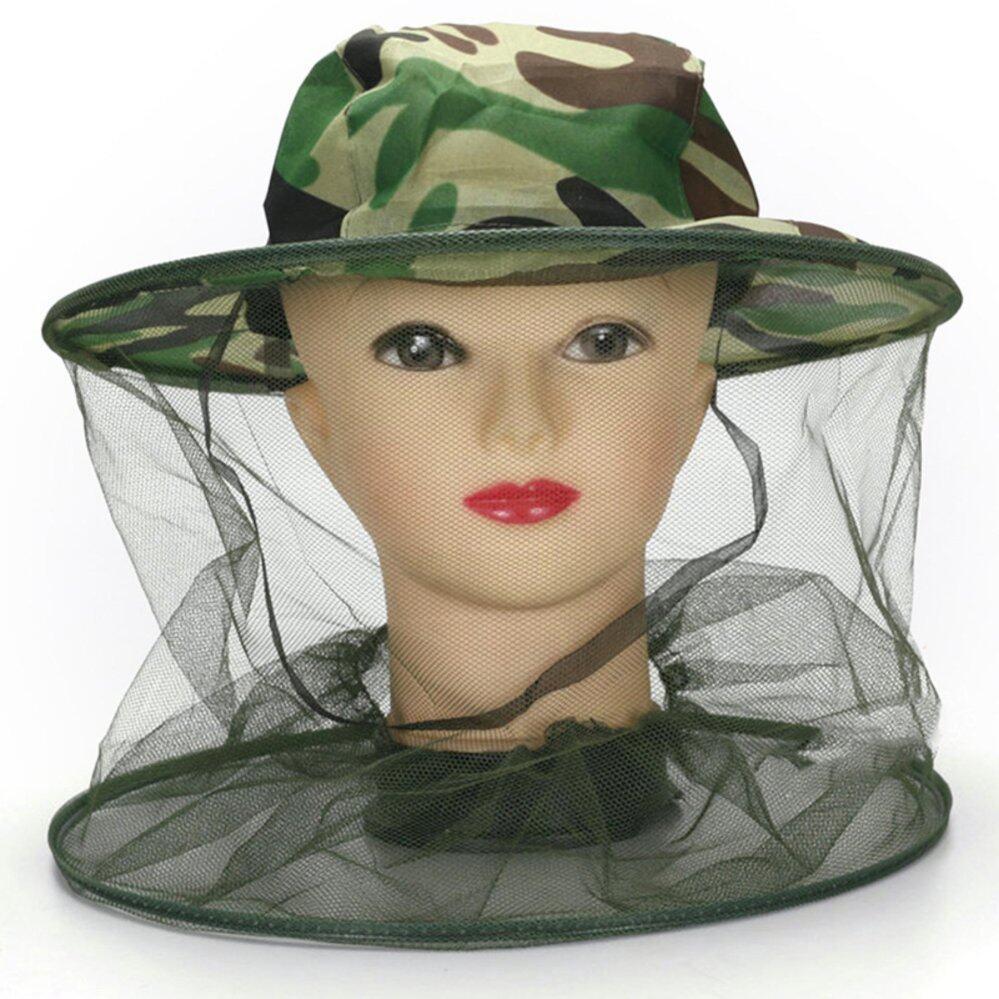 Di Seluruh Dunia Midge Nyamuk Serangga Topi Bug Jaring Kepala Bersih Wajah Pelindung Perjalanan Berkemah-Internasional