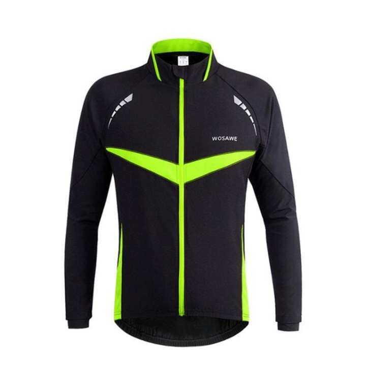 WOSAWE BC266 Men Women Cycling Jacket Warm Long Sleeve Cycling Wind Coat