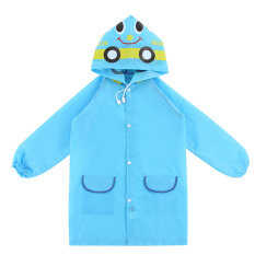 Ybc Unisex Kids Cartoon Rain Coat Animal Style Rainwear Blue By Your Bestchoice