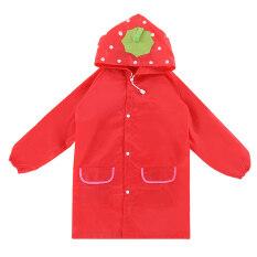 Ybc Unisex Kids Cartoon Rain Coat Animal Style Rainwear Red By Your Bestchoice.
