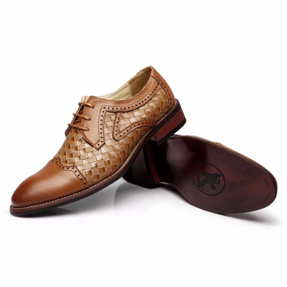 Shoes 2018 Brown Black Crocodile Skin Leather Business Shoes Flats Lace Up Full Grain Leather Formal Casual Dress Shoes Wedding Boot With A Long Standing Reputation Formal Shoes